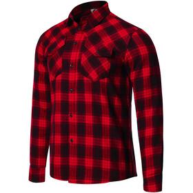Protective P-Rockabilly Longsleeve Shirt Men, rojo/negro